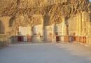 Крепость Масада с Мертвого моря