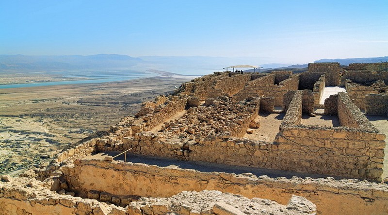 Ruins of Herods Castle in the Masada Fortress, Israel